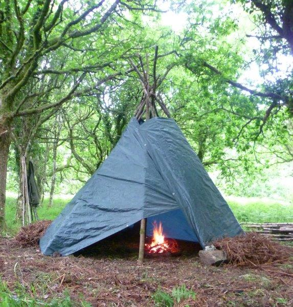 Quick Tarp Tipi The Wilderness Guide